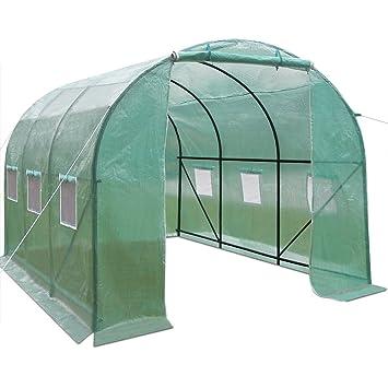 Serre de jardin tunelle bâche verte serre de jardin 350 x 200 x 200 ...