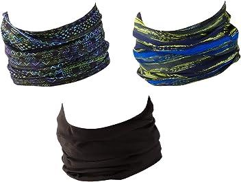 Polaina de Cuello Braga de Cuello Bufanda para Hombre y Mujer Bandana con Dobladillos Cosidos Hilltop Bufanda de Tubo Multifuncional