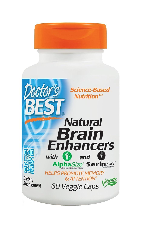 Amazon.com: Doctor's Best Natural Brain Enhancers, Non-GMO, Vegan, Gluten  Free, 60 Veggie Caps: Health & Personal Care