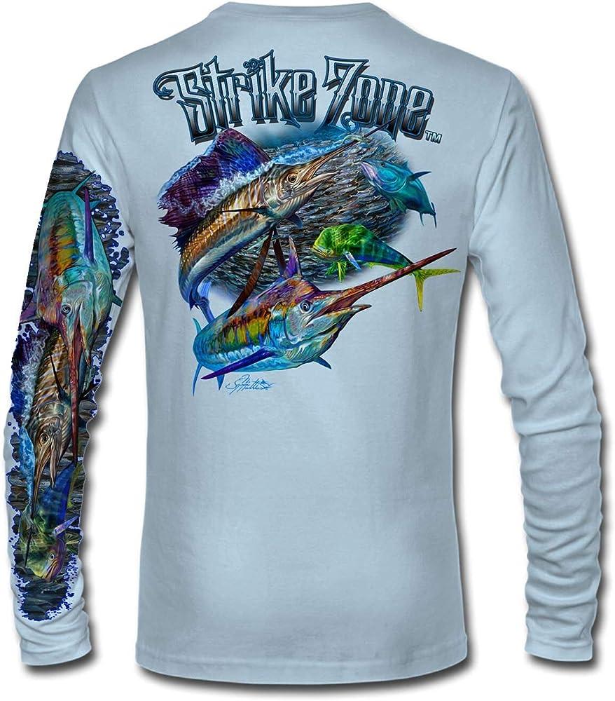 Jason Mathias Slam Strike Zone - Camisa de Pesca (Alto Rendimiento) - Azul - X-Large: Amazon.es: Ropa y accesorios