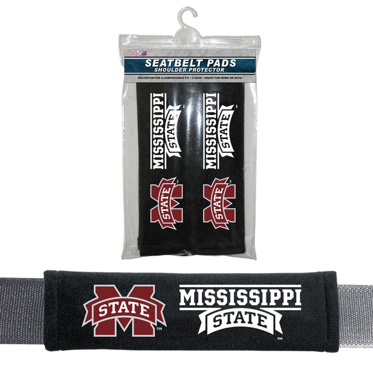 Fremont Die NCAA Mississippi State Bulldogs Velour Seat Belt Pads, One Size, Multi South Bend Sporting Goods 56742