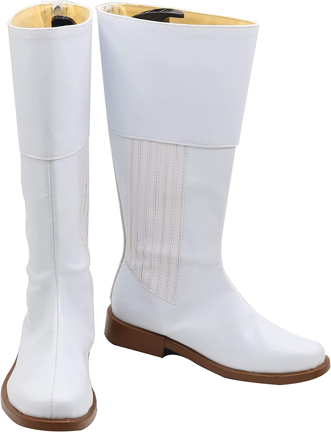 with defects WOMENS WHITE COSTUME BOOTS SIZE ADULT 6