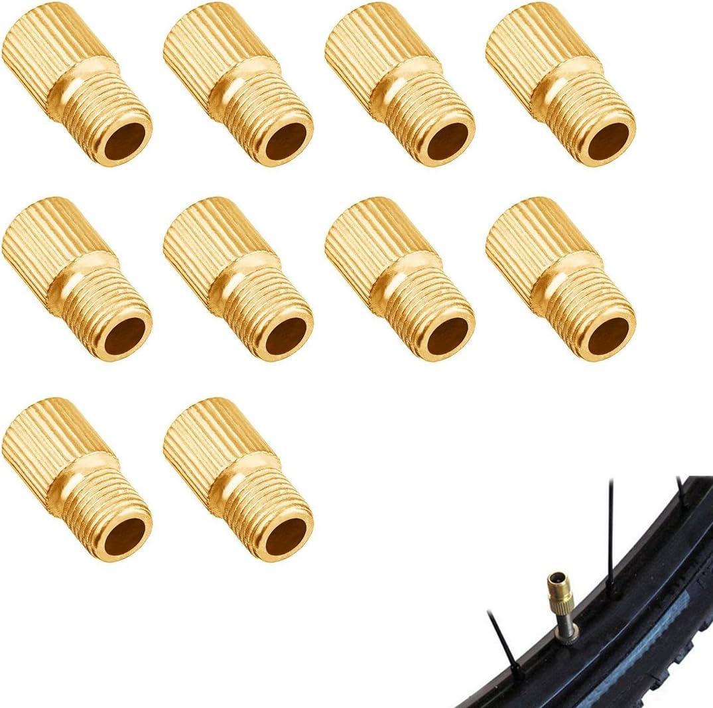 Fahrrad Pumpe AV auf Dunlop- Blitzventil 10 Stück Ventil-Adapter  Auto- DV