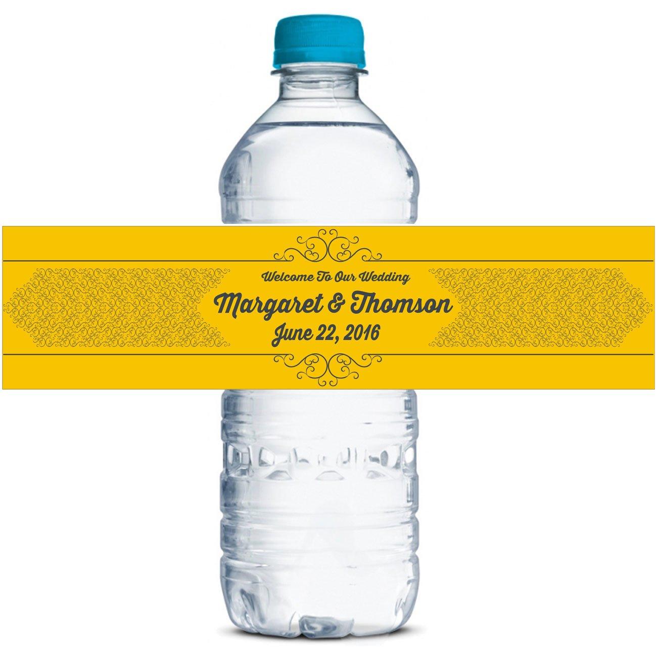 Brauchwasserflaschenetiketten Klebstoff wasserdicht personalisierte Hochzeit Aufkleber 8 8 8  x 2  Zoll - 40 Etiketten B012SJ2QOI | Fierce Kaufen  3fd7fc