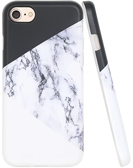 best service 44950 49a22 Marble Case Iphone 8, Iphone 7 Case, A-Focus Black White Marble Frosted  Anti-Finger Full Cover IMD Design Soft Silicone Rubber TPU Cover Case for  ...