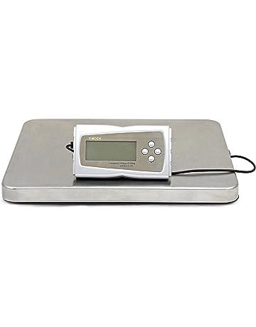 T-Mech - Balanza Postal Electrónica 200kg con Plataforma en Acero para Pesar Productos Postales