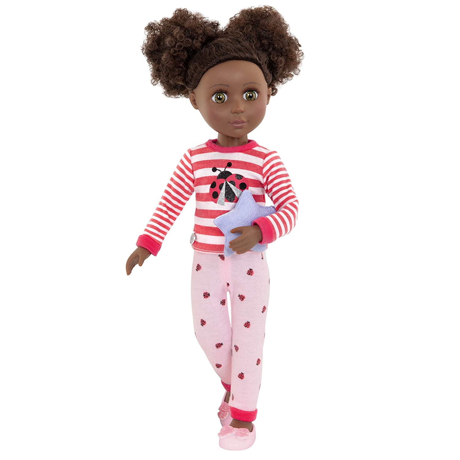 Ladybug Shimmer Pajama Top and Pant Regular Outfit 14 Doll Clothes and Accessories Toys Glitter Girls by Battat