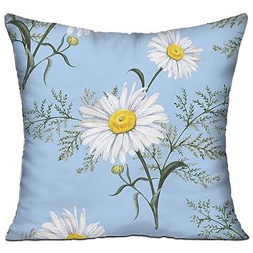 Amazon.com Flower Daisy In Blue Decorative Pillow , Square