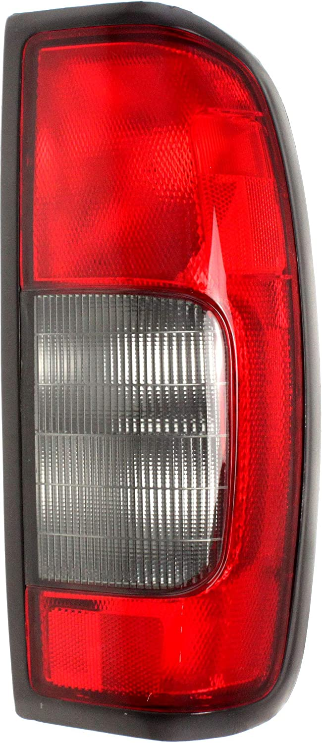 Tail Light Rear Back Lamp for 00-04 Nissan Frontier 2.4L Driver Left Red//Smoke
