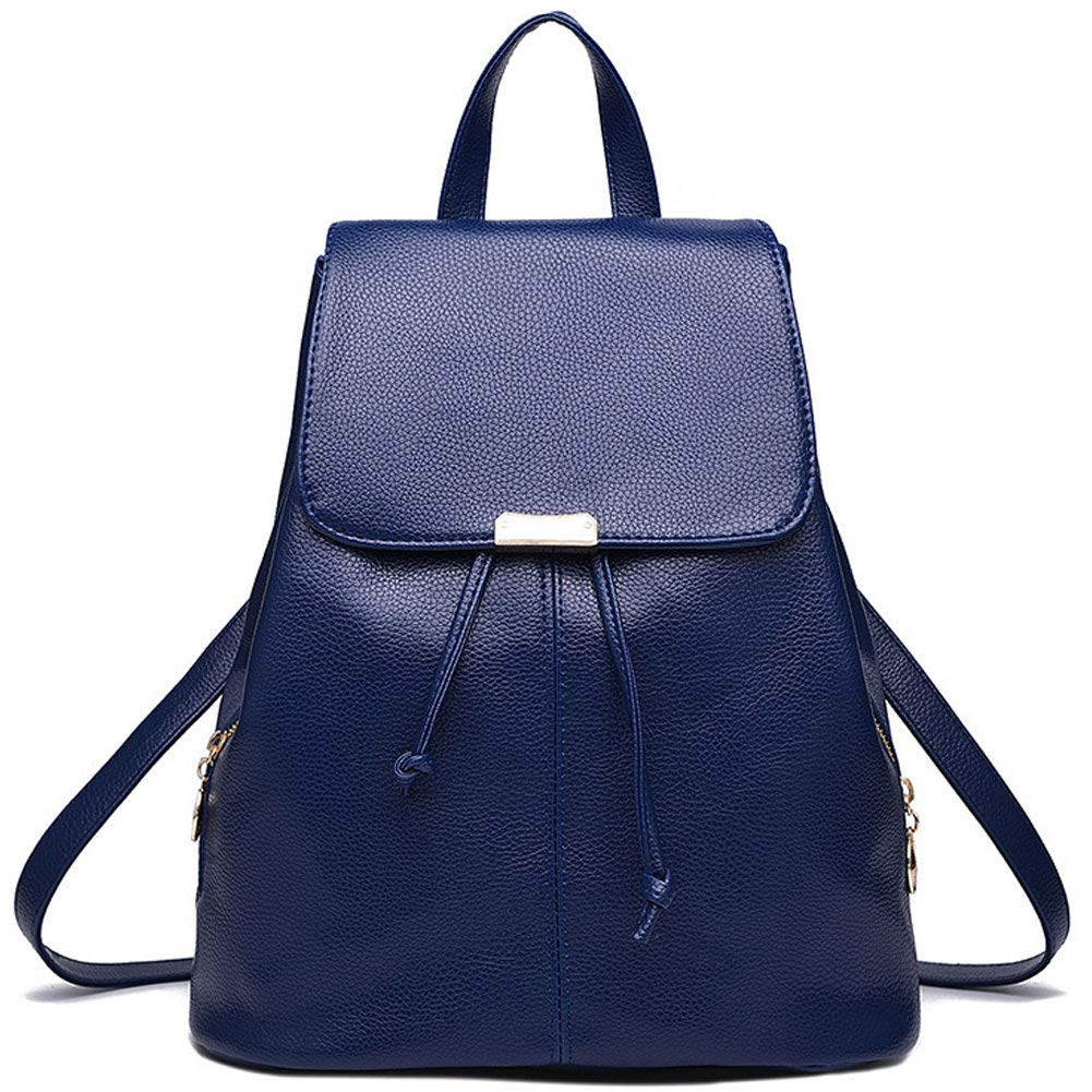 KARRESLY Women's Mini Backpack Purse PU Leather Casual Rucksack Large Capacity Ladies Shoulder Bag for Girls(Blue)