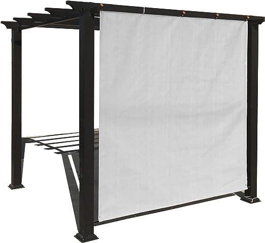 Alion Home Rod Panel de sombra de sol con ojales de aluminio para ...