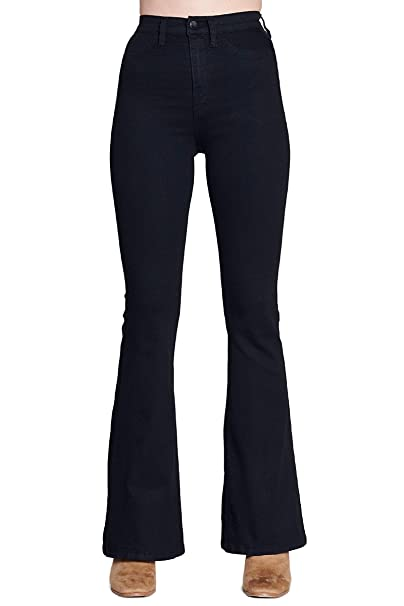 Amazon.com: Vibrant High Rise Flare Jeans: Clothing