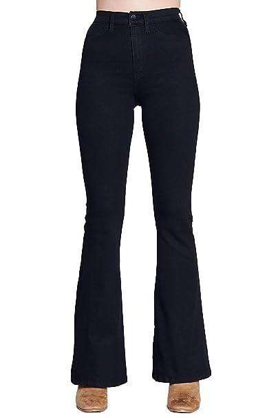 Amazon.com: Vibrant High Rise Flare Jeans: Clothing