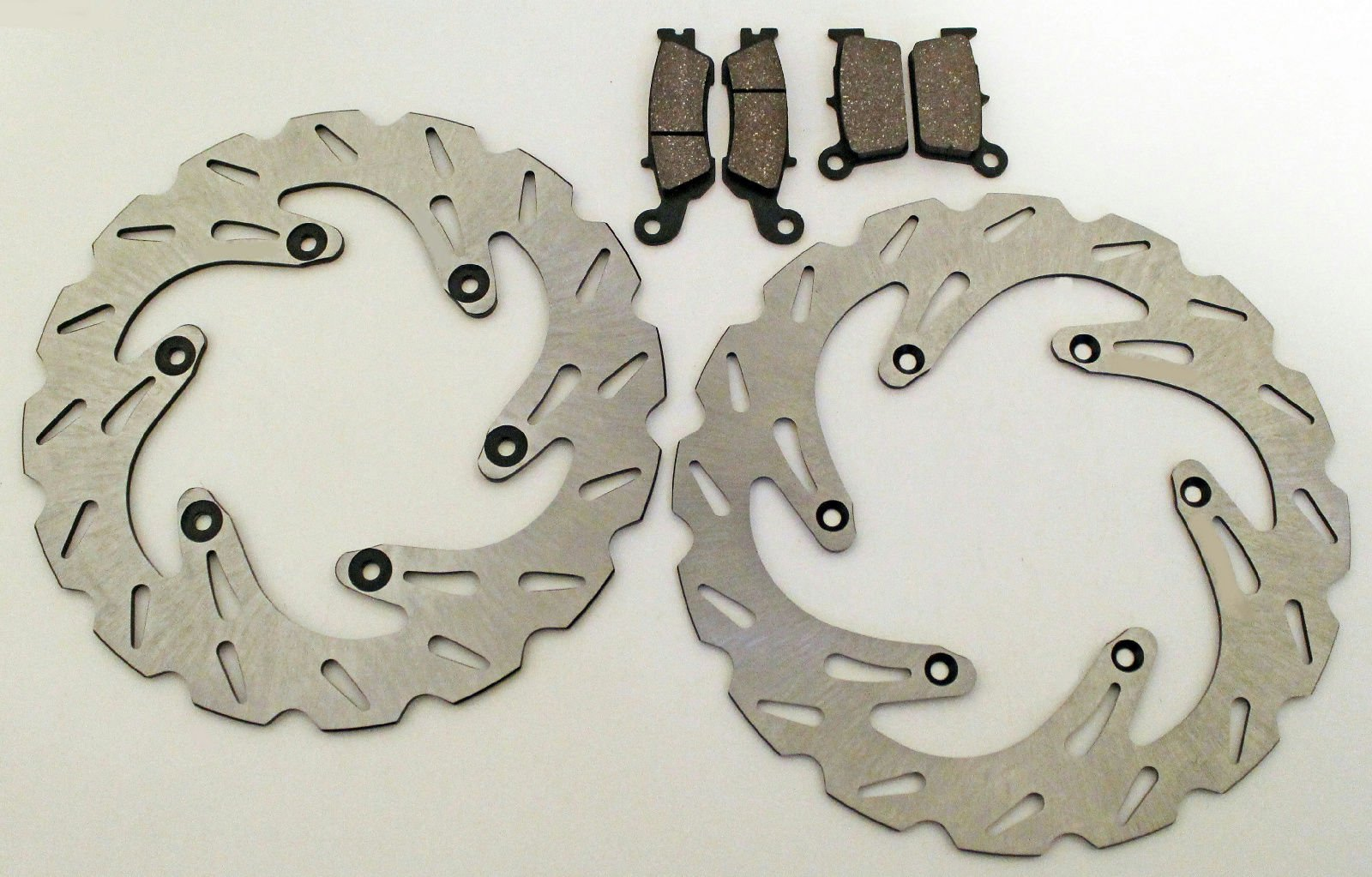 Yamaha 08-13 YZ125/YZ250/YZ450F Front & Rear Brake Pads & Sport Brake Rotors