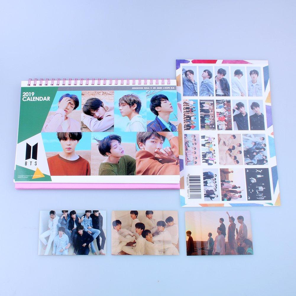 BTS Bangtan Boys 2019 –  2020 calendario da tavolo con extra foto adesivi Hot kpop HK00037
