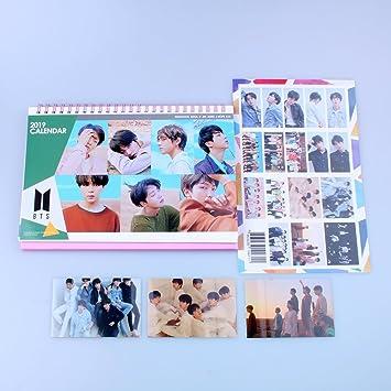 Bts Tour Schedule 2020 BTS Bangtan Boys 2019 2020 Desk Calendar with Extra Photo Stickers