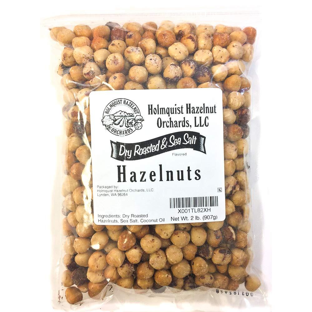 Holmquist Hazelnuts Dry Roasted Hazelnuts   Sea Salt   2 LB Bag