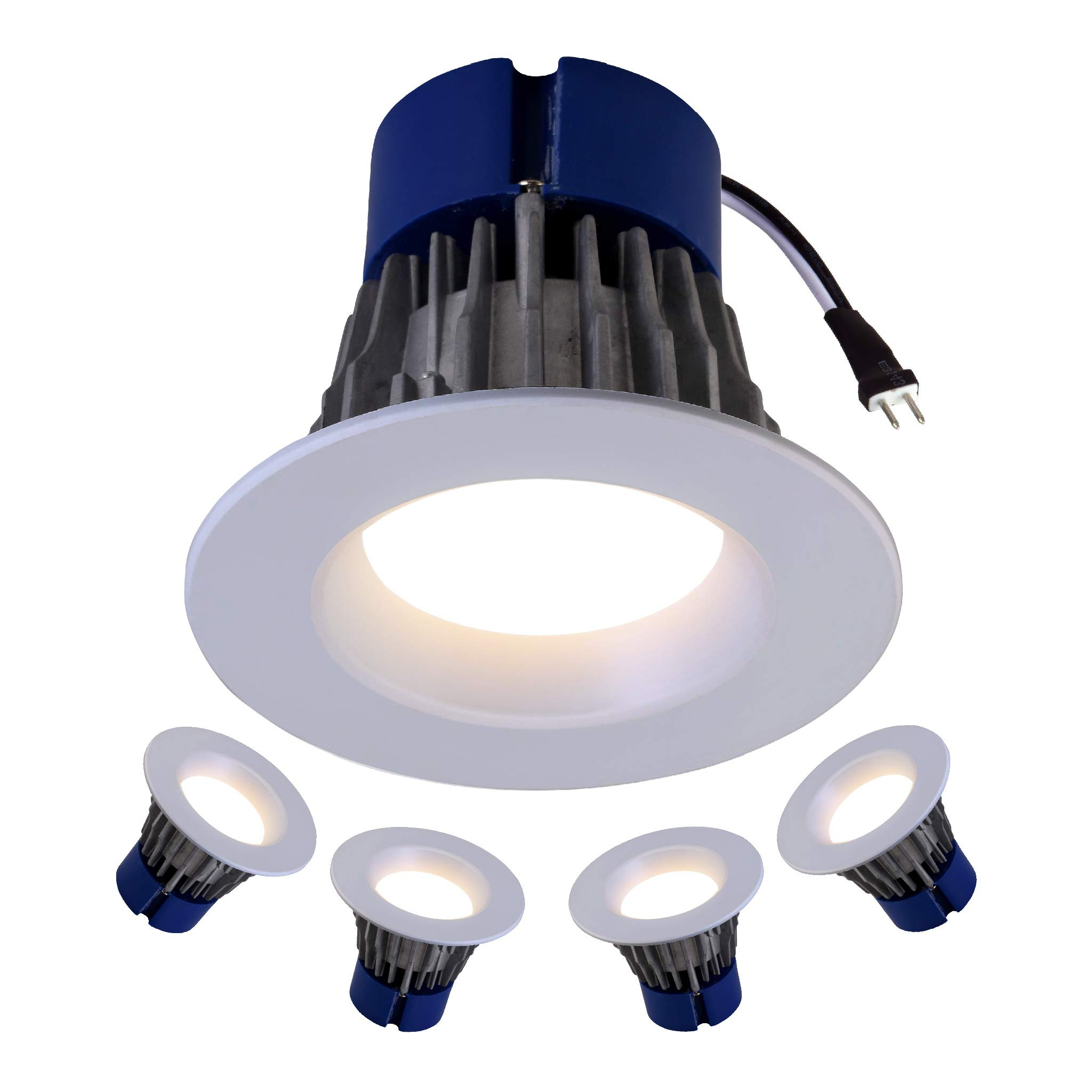 LED 4'' Inch Low Voltage Downlight (4 Pack) 12V; 3000K; Dimmable down to 5% ; 11W; 750 Lumens; Fits most MR-16 4'' Inch cans and works only with magnetic transformers; 5 Year Warranty by Quest
