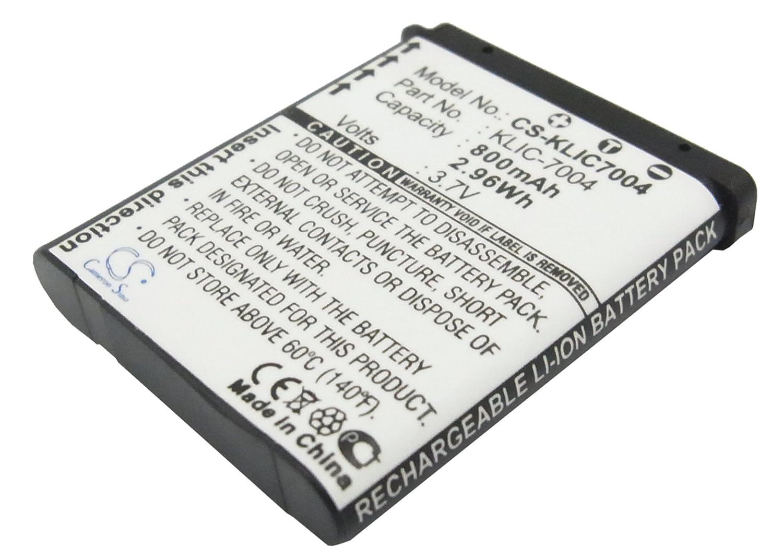 ビントロンズ交換バッテリーfor Kodak klic-7004 ( 800 mAh / 3.0 WH、 B013KOZNHM