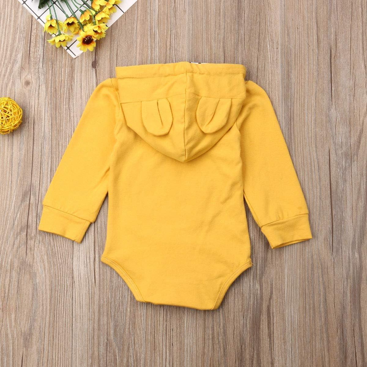Bmnmsl Baby Boy Hoodie Romper Long Sleeve Newborn Infant Cotton Jumpsuit Bodysuit 0-12 Months Clothes