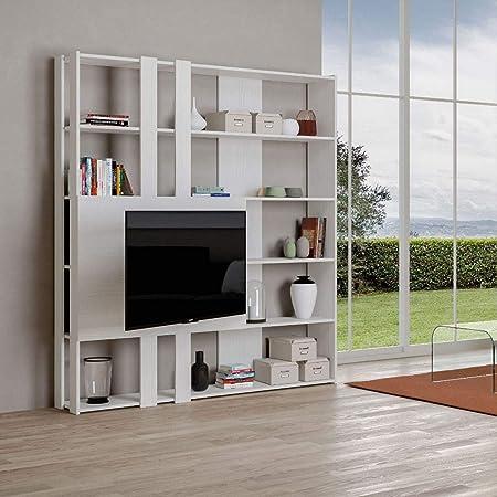 Itamoby, Libreria e Porta TV a Parete Legno Kato M con 6 ...