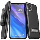 Encased iPhone 11 皮带夹手机壳带支架(2019 细线)带皮套的超薄手机壳 - 黑色