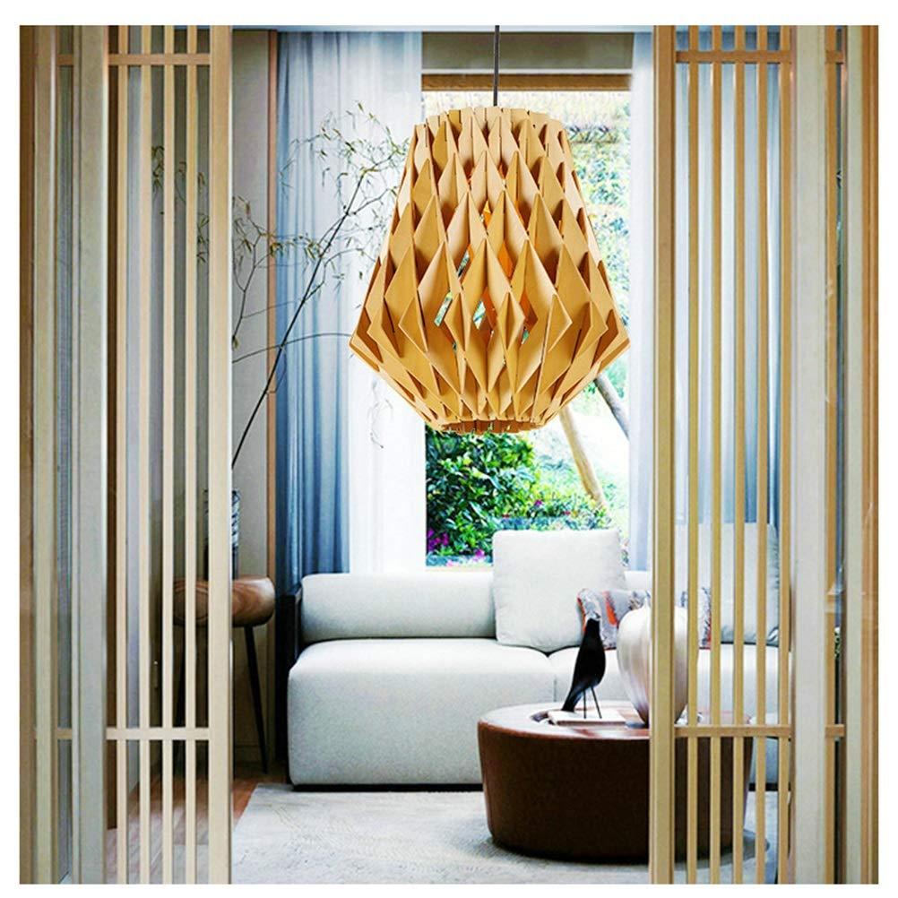 Light-S 北欧ミニマリストクリエイティブ木製家の照明日本人と韓国人格リビングルーム寝室レストランバーナット木製シャンデリア   B07TTBD3SS