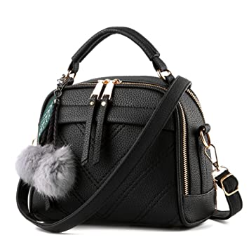 Magic Zone Women Leather Handbags Shoulder Bags Top-handle Tote ...