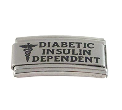 ff35b8542b3c8 Gadow Jewelry 2 Diabetic Insulin Dependent Medical Italian Charms for  Bracelet