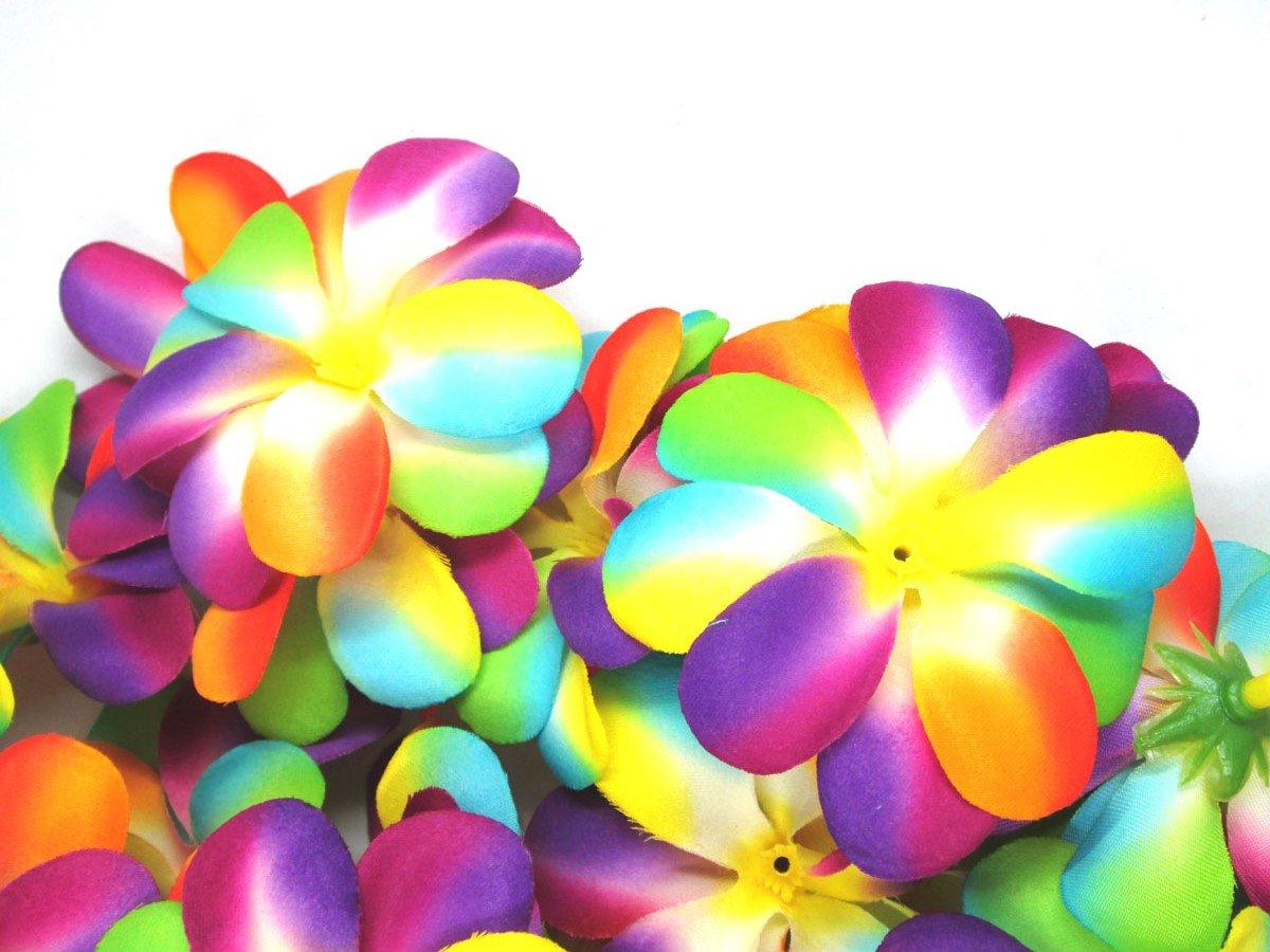 Wholesale Lot 3 inches headbands Artificial Silk Flower for Wedding 100 Plumeria Frangipani Heads Make Hair clips