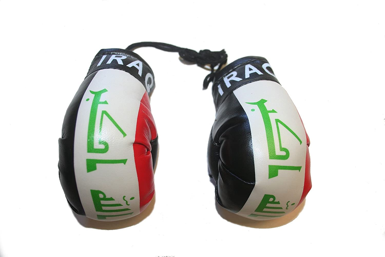 Iraq Mini Boxing Gloves to Hang Over Your Automobile Mirror ... New SUPERDAVES SUPERSTORE