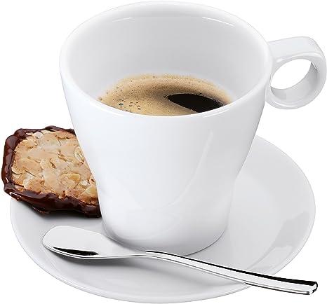 Blanco Acero Inoxidable WMF Various Taza y Plato para caf/é Espresso
