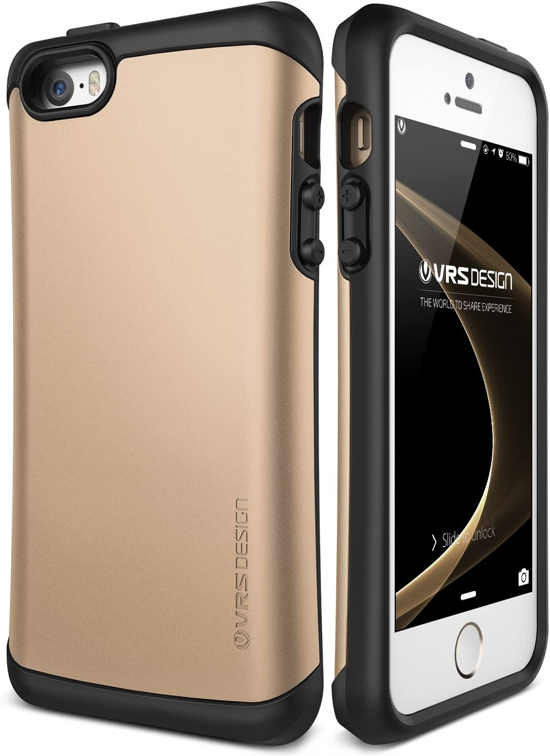 iPhone SE Case, VRS Design [Thor][Champagne Gold] - [Military Grade Drop Protection][Natural Grip] For Apple iPhone SE