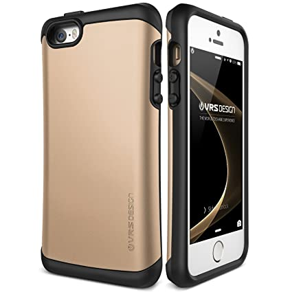 new arrival 0d096 e58d5 iPhone SE Case, VRS Design [Thor][Champagne Gold] - [Military Grade Drop  Protection][Natural Grip] for Apple iPhone SE