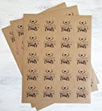 Kraft Brown Paper Stickers and Stationery Envelope