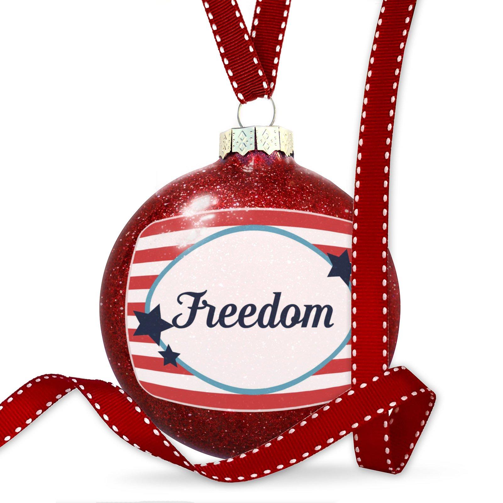 Christmas Decoration Freedom Fourth of July America Stars and Stripes Ornament
