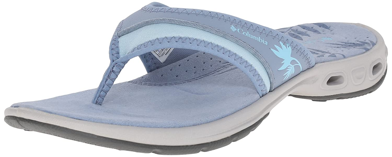 Amazon.com | Columbia Women's Kambi Vent Sandal, Dark Mirage/Sky Blue, 5 B  US | Flip-Flops