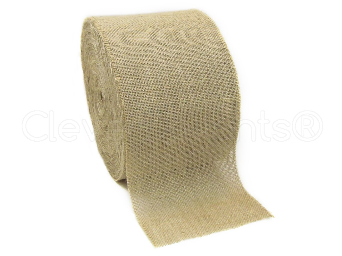 CleverDelights 8'' Natural Burlap Roll - 50 Yards - Eco-Friendly Jute Burlap Fabric - 8 Inch