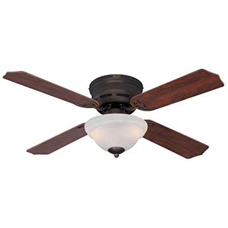 Westinghouse Lighting 7213000 Hadley 42-Inch Oil Rubbed Bronze Indoor Ceiling Fan, Light Kit with White Alabaster Bowl,
