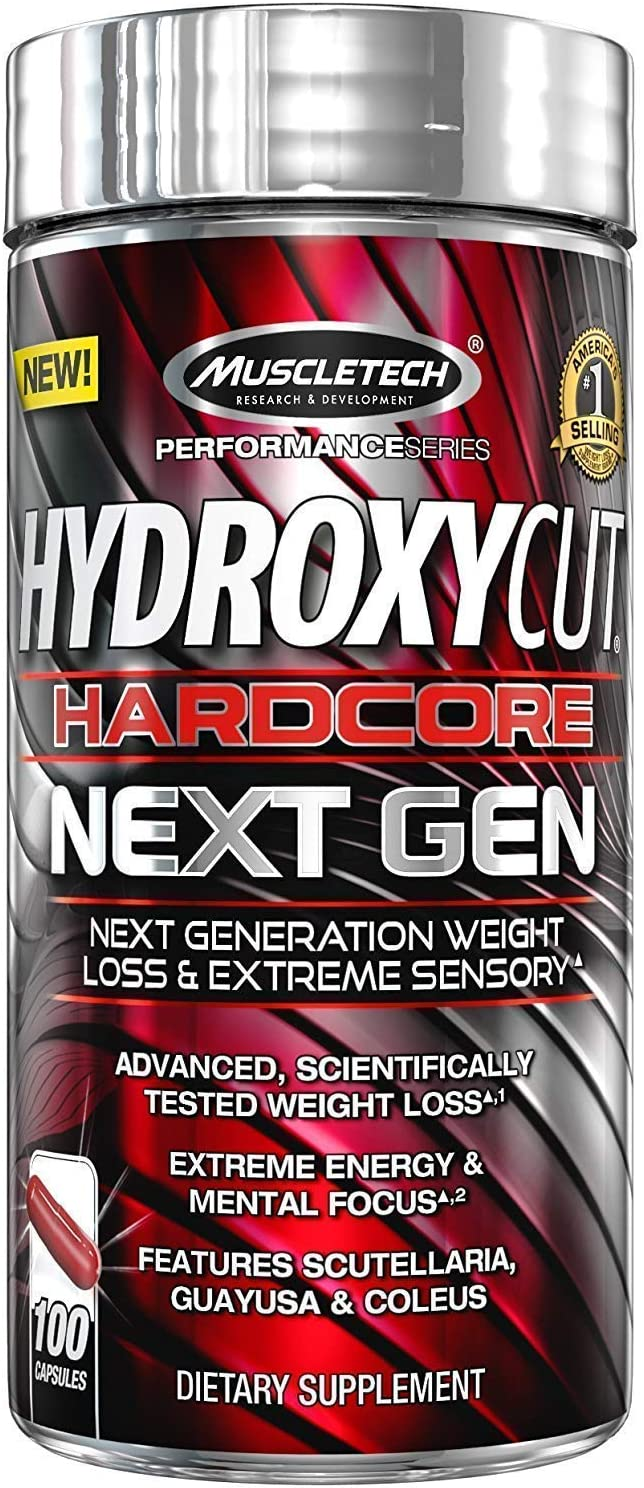 Hydroxycut Hardcore Next Gen, Scientifically Tested Weight Loss and Energy, Weight Loss Supplement
