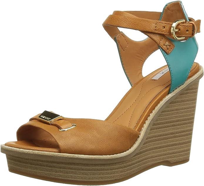 Geox Keil Sandalette braun EU 38.5: : Schuhe s3KkL