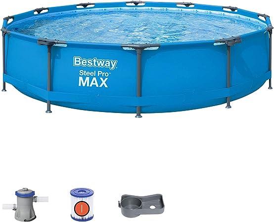 Bestway 56416 – Steel Pro Max – Piscina exterior redonda, 366 x 76 cm, bomba de filtrado incluida: Amazon.es: Jardín