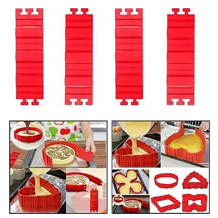 Itian Flexible silicona DIY pasteles moldes de cocción - moldes de pastel de silicona novedad mágico