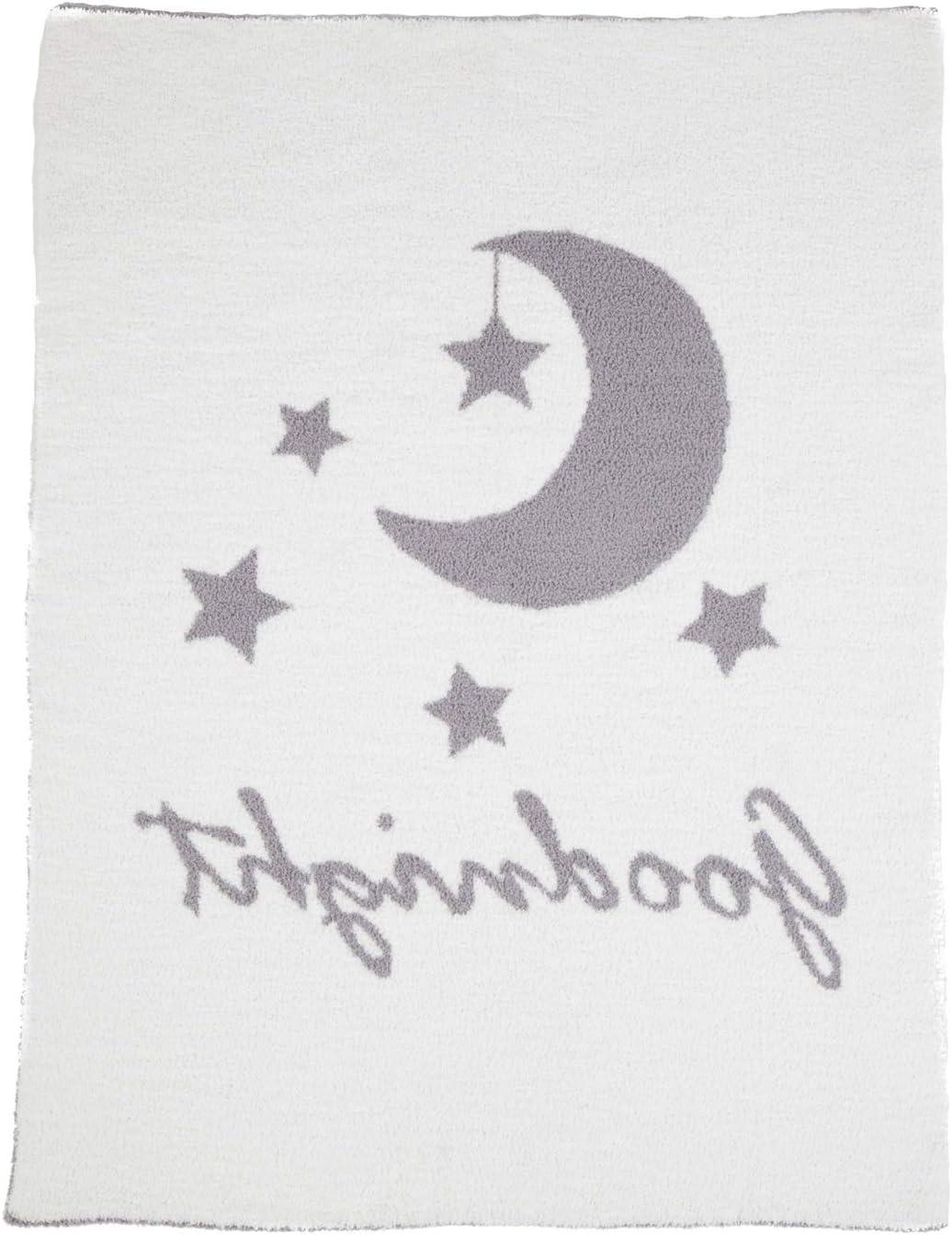 Boutique Goodnight Chenille Blanket B Gray//White