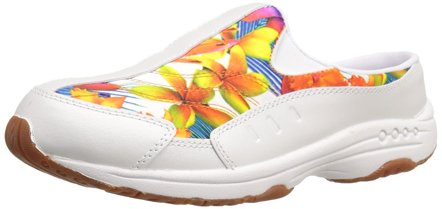 White orange Multi Leather Easy Spirit Women's Traveltime Mule