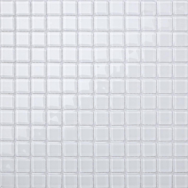 30cm x 30cm Superwhite Glass Mosaic Tiles Sheet (MT0079) Grand Taps
