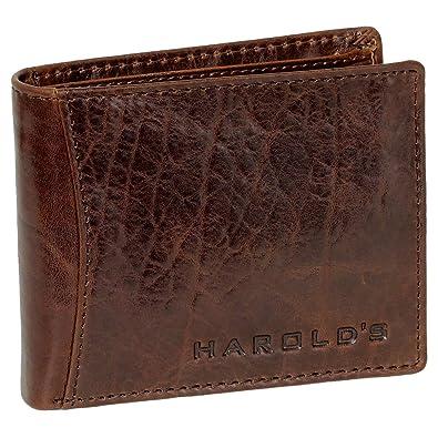 Herren Geldbörse Portemonnaie Wallet Rind Leder Geldbeutel Brieftasche Harold´s