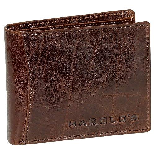 Cartera monedero cartera de piel para hombre Harold archd marrón 5467