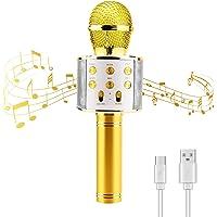 Micrófono Karaoke Inalámbrico Bluetooth Portátil Karaoke para Niños Regalo de Cumpleaños para Fiestas en Casa de…