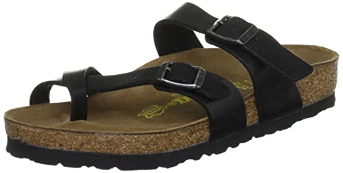fdcecfa85a03 Birkenstock Women s Mayari Regular Licorice Birko-Flor Graceful Slides  Sandal 171 391 4 UK